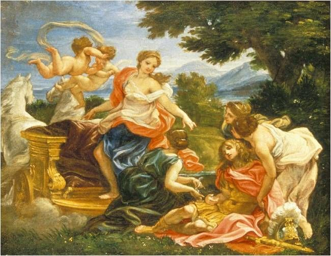 Rinaldo a Armida - Giovanni Battista Gaulli