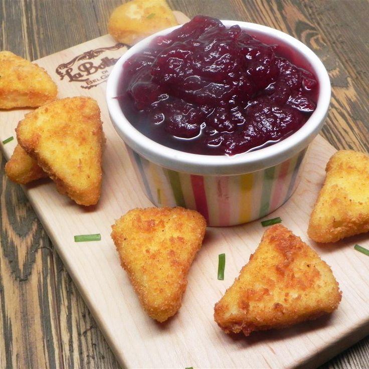 Deep-Fried Camembert with Cranberry Sauce @ http://allrecipes.com.au