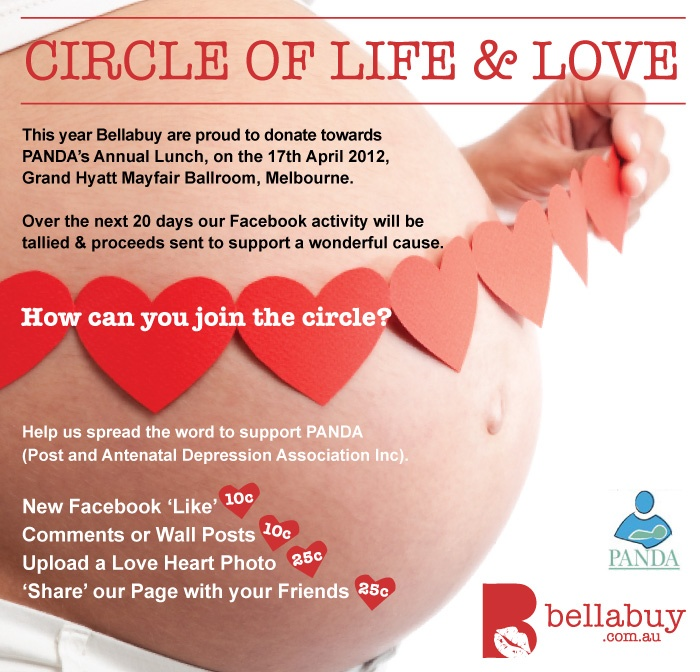 Bellabuy gives Back - 2012  Supporting PANDA (Post & Ante Natal Depression Association)