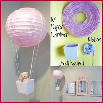 Turn A Dollar Store Lantern Into A Hot Air Balloon For A Nursery
