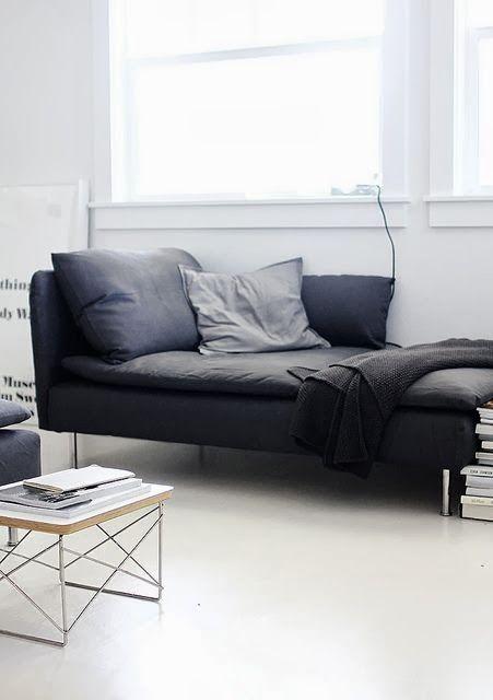 25 beste idee n over zwarte bank op pinterest zwart bank decor grote bank en zwarte bank decor - Sofa zitplaatsen zwarte ...