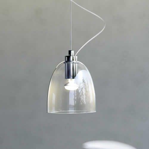 Transparante glas hanglamp lamps pinterest hanglamp for Lampen scandinavian design