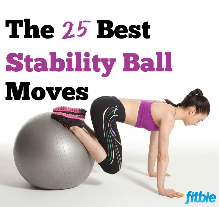 Challenge your balance and engage your core muscles with these stellar stability-ball moves. | Fitbie.com