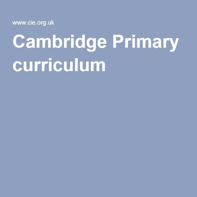 Cambridge Primary curriculum