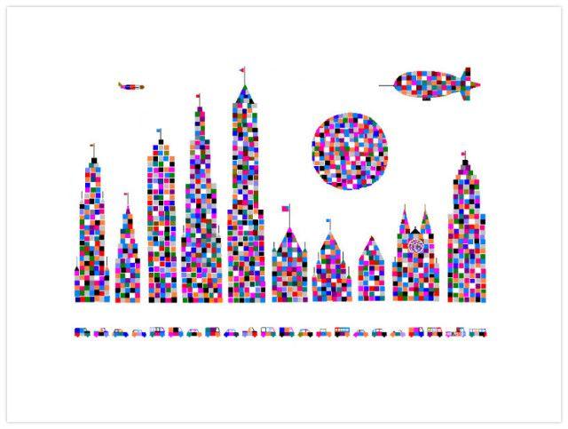 art by 98-year-old Hal Lasko - the Pixel Painter