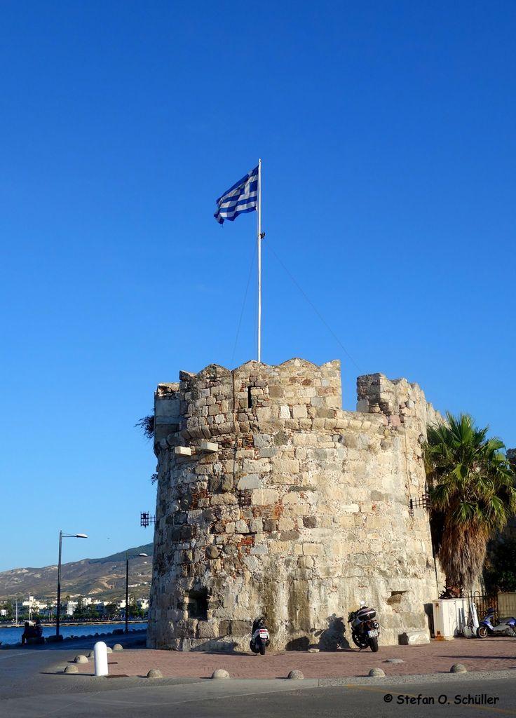 Die Johanniterfestung #Neratzia am Hafen von Kos-Stadt.  #Kos #Insel #Griechenland #greece #island #Dodekanes #InselKos #KosIsland