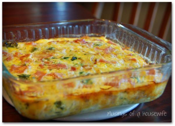 Crustless Quiche with Spinach & Bacon | Recipe | Quiche