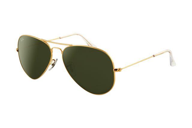 Ray Ban Aviator RB3025 Sunglasses Gold Frame Crystal Light ...