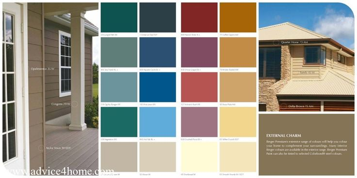 External charm berger paints premium color guide clinic - Colour charts for interior painting ...