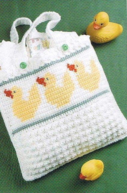 Crochet Diaper Bag Pattern Free : 1000+ ideas about Crochet Diaper Bag on Pinterest ...