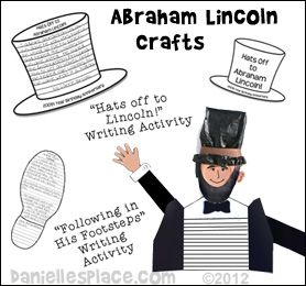 Abraham Lincoln Crafts and Learning Activities for Kids from www.daniellesplace.com
