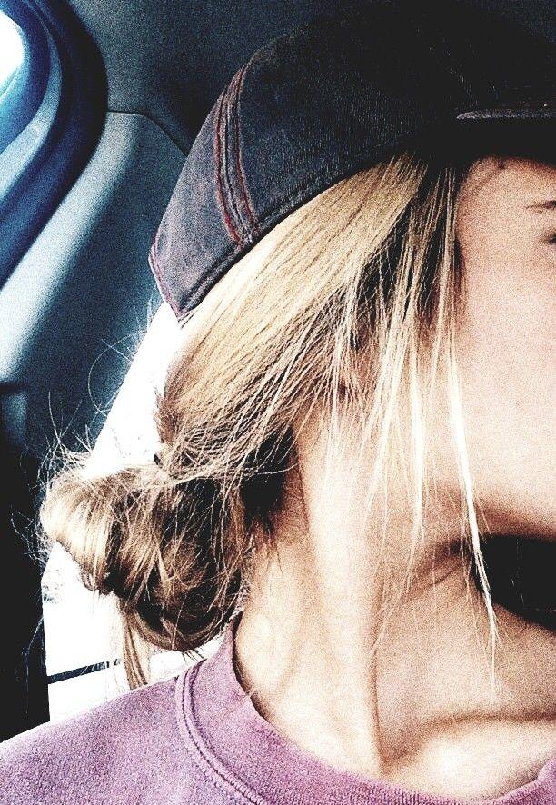Strangertumblr ☆ Vsco Inspire Hat Bun Low Cute Hair