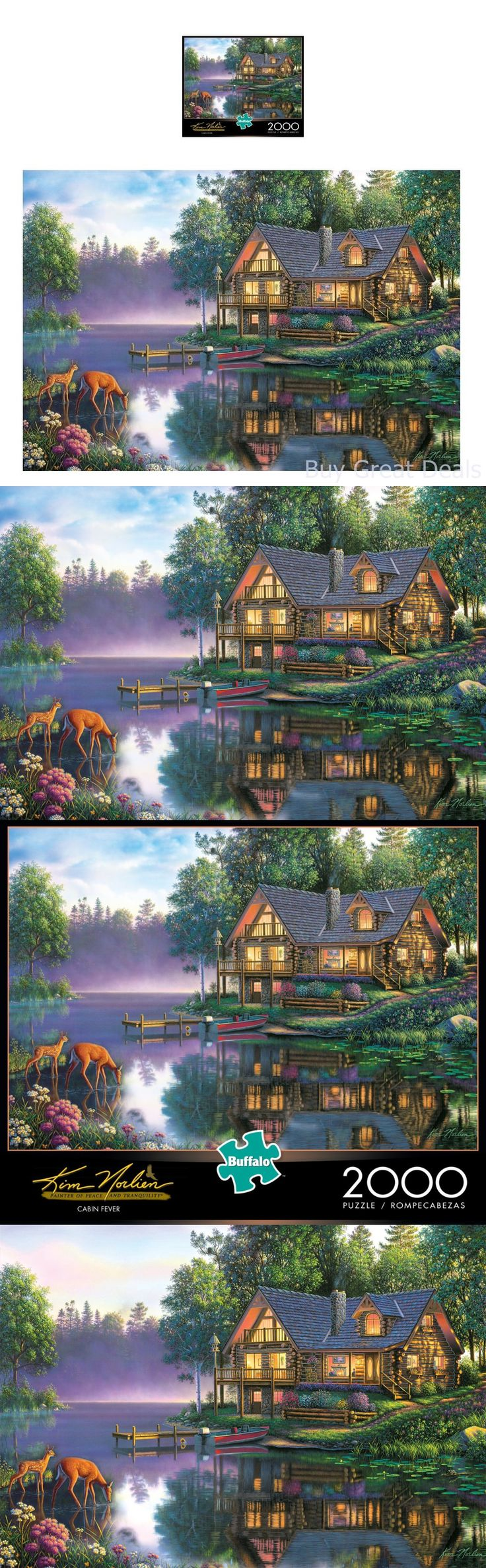 Jigsaw 19183: Toy Kim Norlien Cabin Fever 2000 Pc Jigsaw Puzzle 38.5 Inx26.5 In Hobby Play Fun -> BUY IT NOW ONLY: $32.77 on eBay!