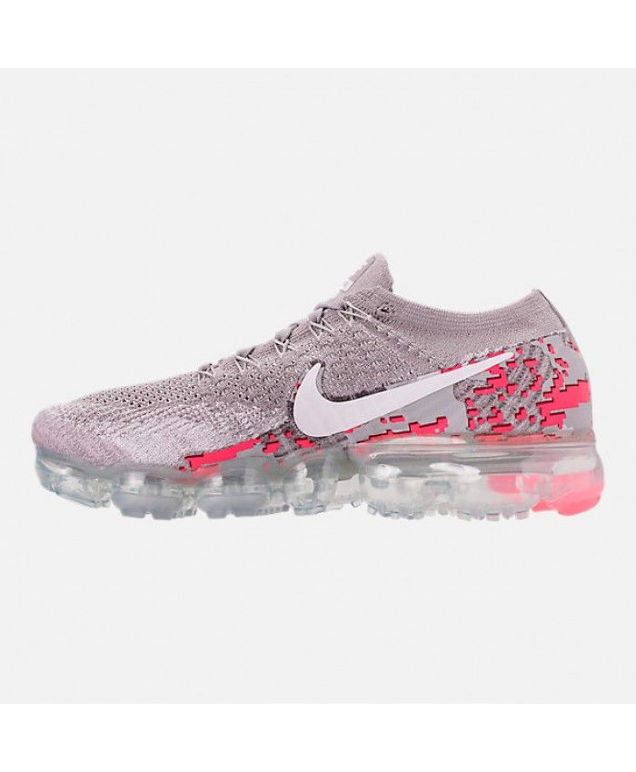 a7e8a717ef174 Nike Air VaporMax Flyknit 2 Womens Atmosphere Grey White Hot Punch Shoes