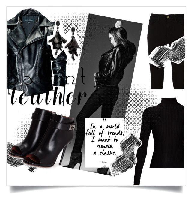 """Black Leather"" by kharismabelle on Polyvore featuring Acne Studios, Leka, Frame, Illamasqua, Givenchy and Oscar de la Renta"