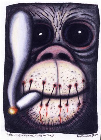 Smoking Monkey - Reg Mombassa