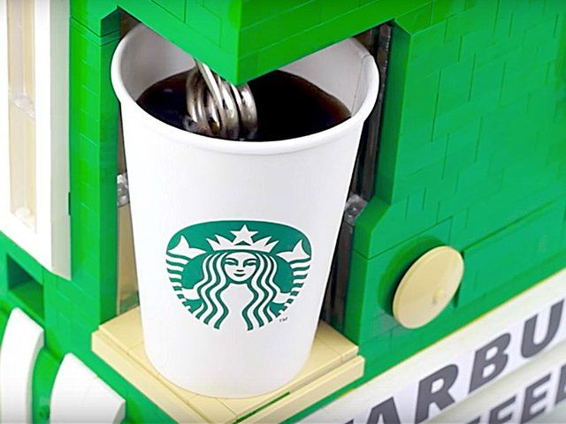 There are some amazing YouTube videos of people building the craziest things out of Lego's, but this one from AstonishingStudios just might top them all… a Lego Starbucks hot coffee maker machine and it's going viral right now!