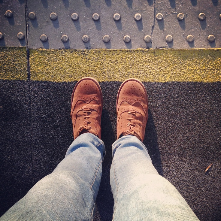 #shoesinsitu Old Style Brogues with blue jeans