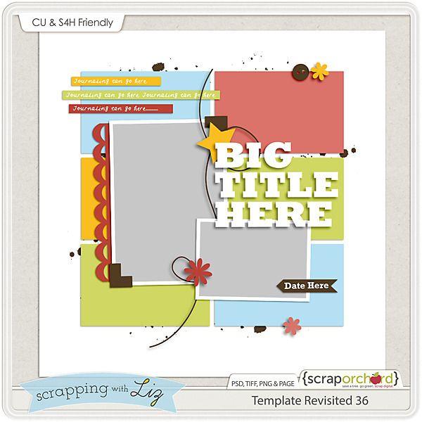 48 best Asst\u0027d Scrap Templates images on Pinterest Digital