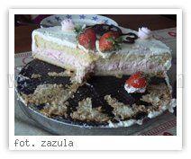 Wielkie Żarcie - Przepis - Tort z bitą śmietaną i truskawkami