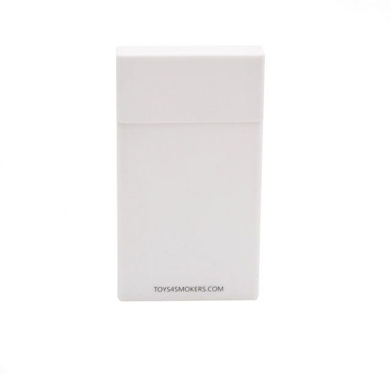Cigarette Case Plain White Slim by toys4smokers on Etsy, zł19.99