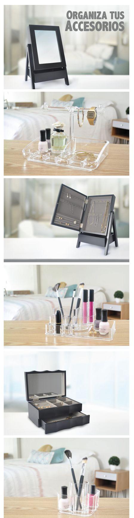 Organizar tus accesorios y joyería es tan fácil con uno cualquiera de estos productos. #Organización #Joyería #Accesorios #Joyero