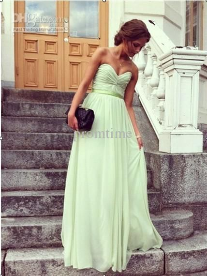Wholesale Prom Dresses - Buy In Stock On Sale Sweetheart Sash Ruffle Draped Chiffon Floor-length Lace-up Prom Dress Evening Dresses Evening Gowns Bridesmaid Gowns PD343, $72.73 | DHgate