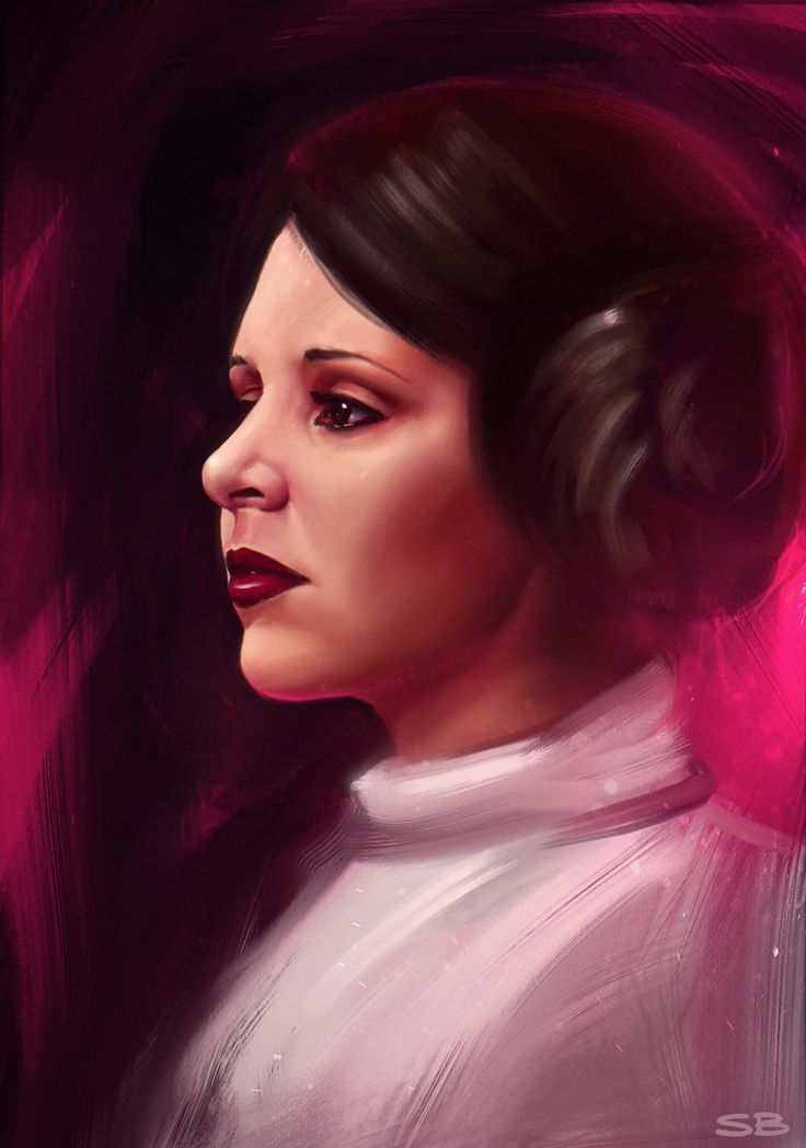 ArtStation - Tribute to Carrie Fisher , Sebastian Belicki