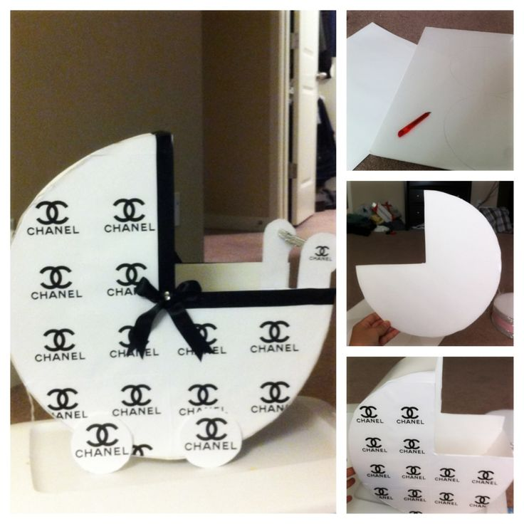 Baby Shower Chanel Table Decor. DIY Project, Dollar Tree Foam Paper, White  Paper