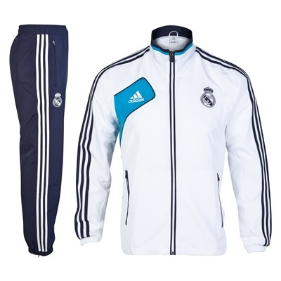 Real Madrid Training Presentation Suit - White/Noble Ink