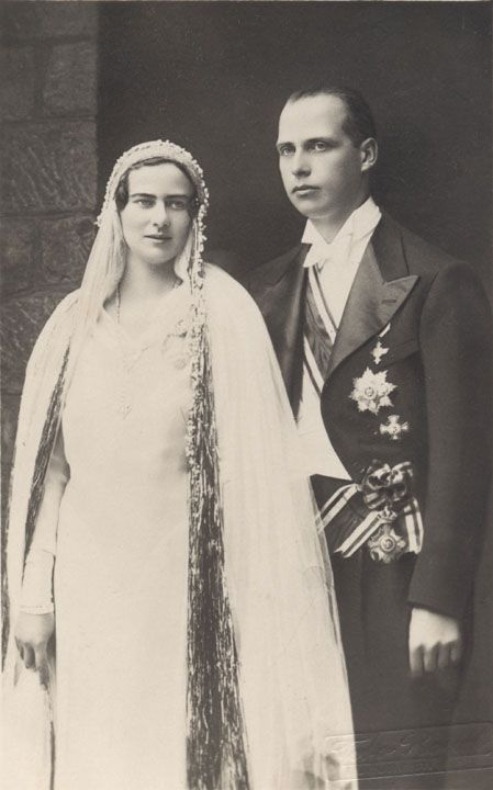 Princess Ileana and Archduke Anton of Austria Wedding Postcard