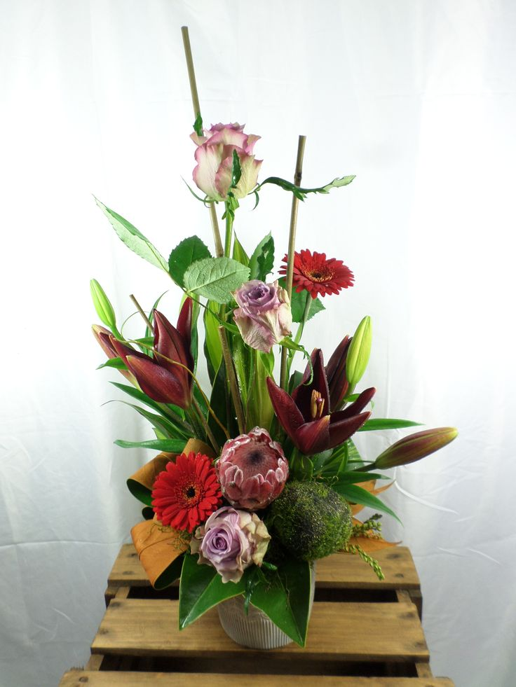 Stunning floral potted arrangement created by Florist ilene