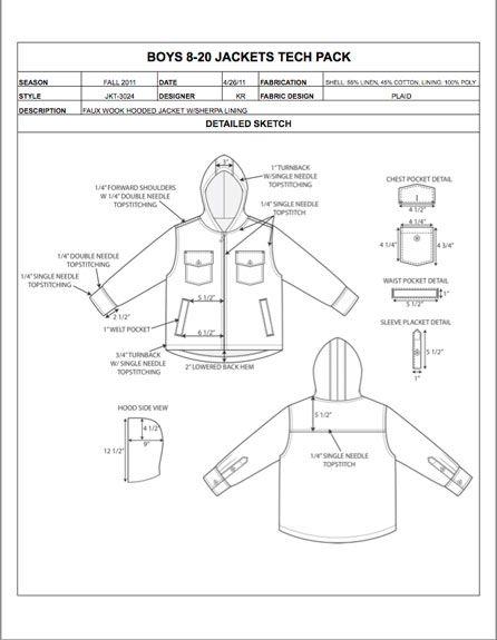 Childrens Design Detail Sheet Sample - Womens, Mens, Kids & Plus Size…