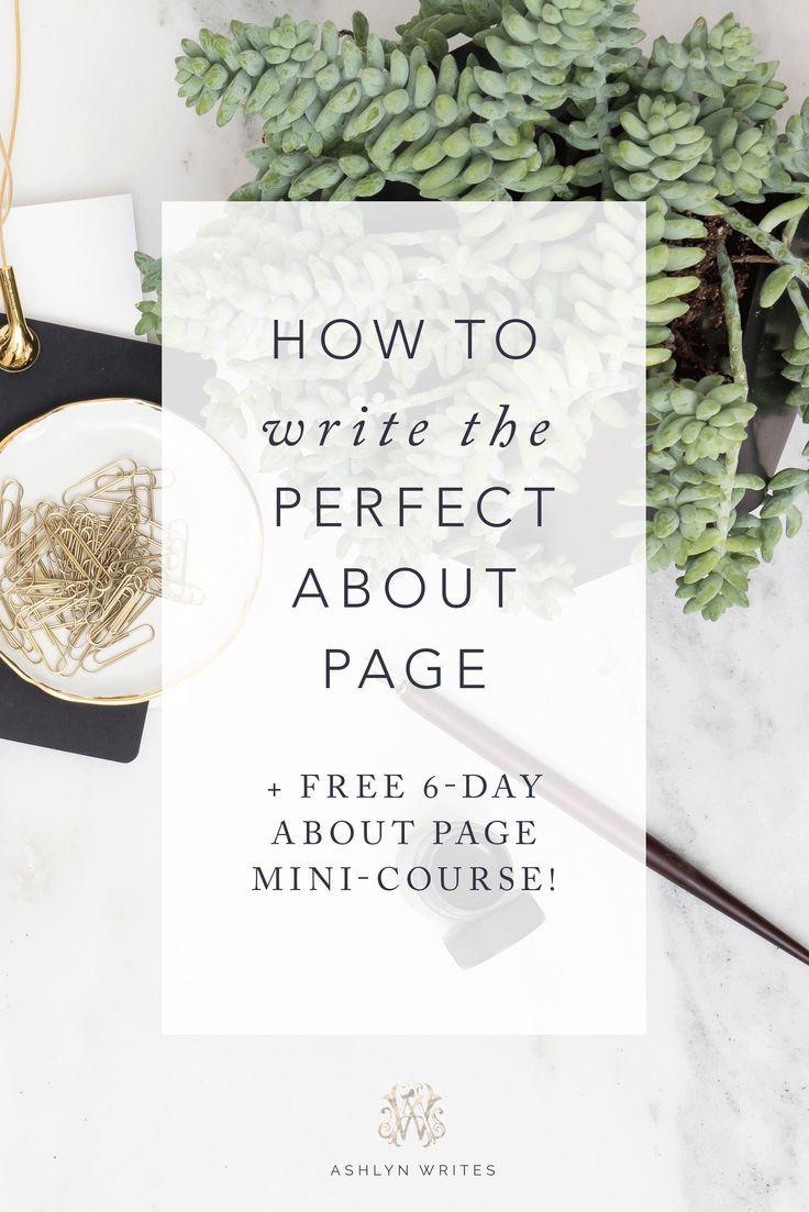 Ashlyn Writes Creative Copywriting About Page Copy