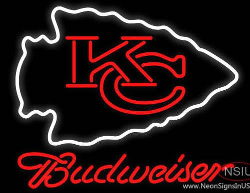 Budweiser Kansas City Chiefs NFL Real Neon Glass Tube Neon Sign,Affordable and durable,Made in USA,if you want to get it ,please click the visit button or go to my website,you can get everything neon from us. based in CA USA, free shipping and 1 year warranty , 24/7 service