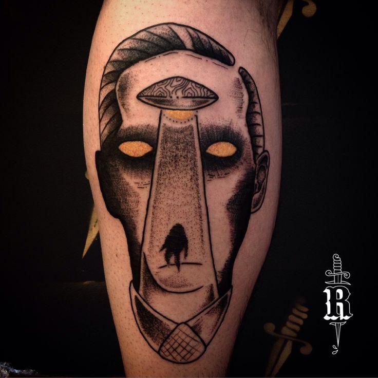 #tattoo #blackwork #dotwork #pontilhismo #curitiba #tatuagem #lovecraft #ufo #ovni #abduction