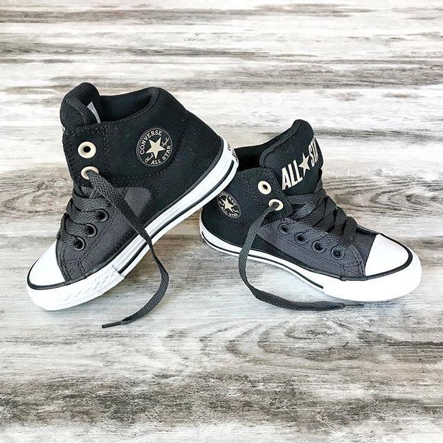 black high top converse junior
