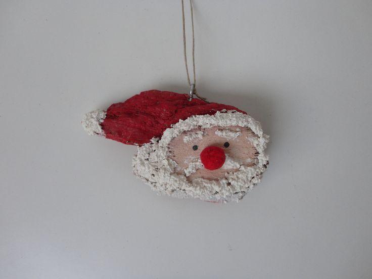 Driftwood christmas ornament. Driftwood santa claus