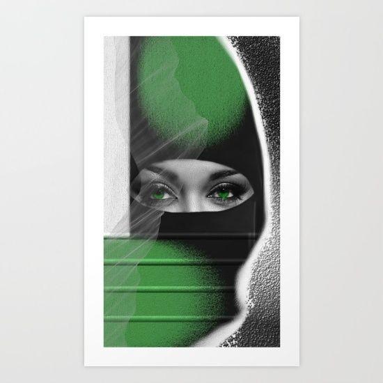 Just+Freedom+Art+Print+by+Müge+Başak+-+$17.68
