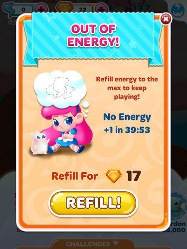Energy lives game design UI UX
