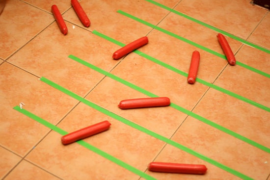 How to Calculate Pi by Throwing Frozen Hot Dogs: 8 steps (Happy Pi Day!)  http://www.wikihow.com/Calculate-Pi-by-Throwing-Frozen-Hot-Dogs#