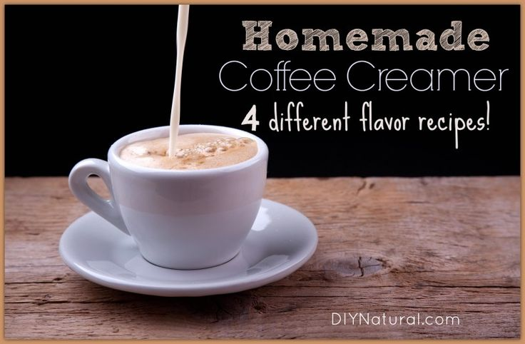 Homemade Naturally Flavored Coffee Creamers – Homemade coffee creamer is easy to make and you can flavor the creamer however you wish! Here are four different flavor recipes to get you started. Enjoy!