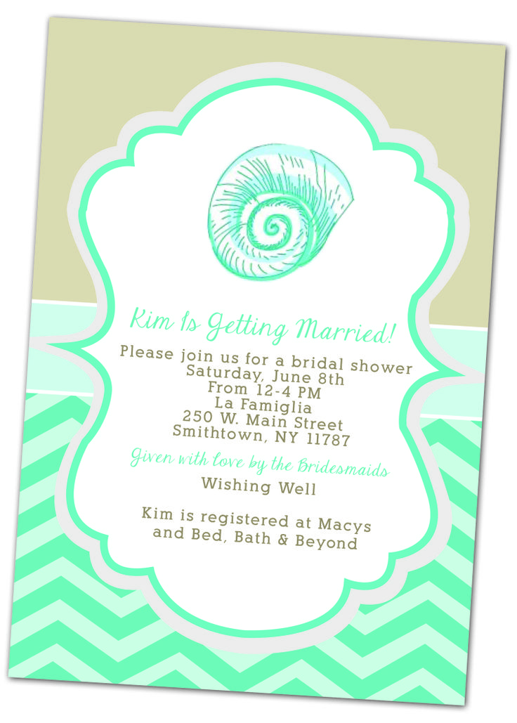 Beach Themed Bridal Shower Invitation Christimariecreative