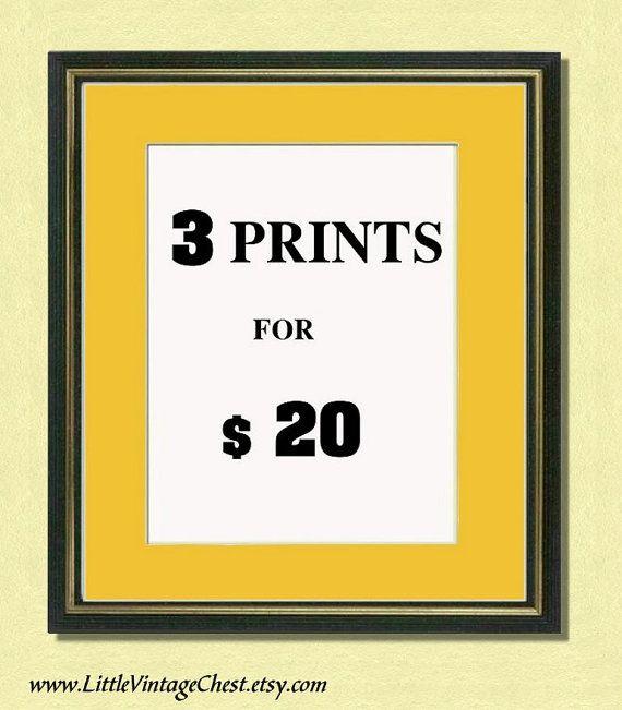 3 PRINTS 20 Dollars  Summer Promotion   by littlevintagechest, $20.00