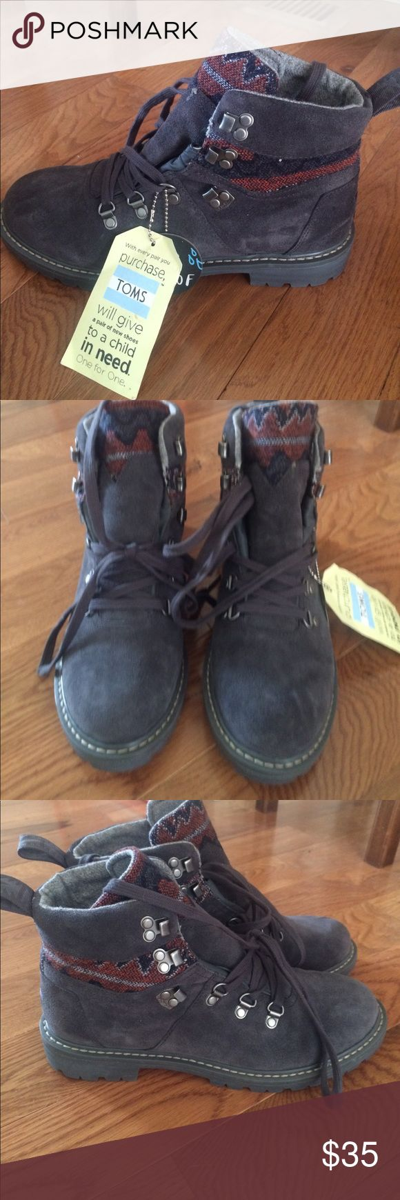 TOMS hiking boots! Brand new, never worn. Waterproof! Toms Shoes Winter & Rain Boots