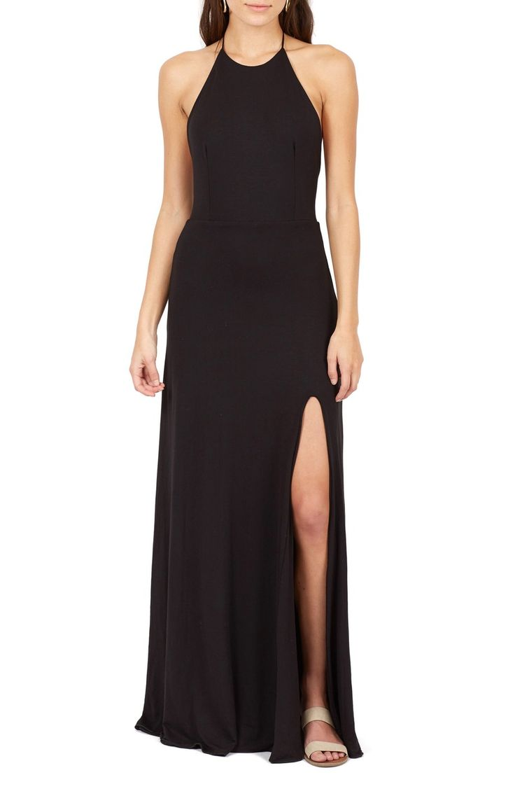 Main Image - Delacy Nikki Halter Maxi Dress
