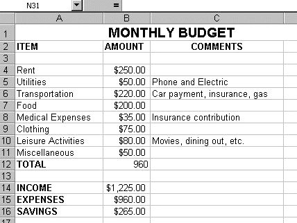 Monthly budget work sheet - house hold budget plans (With ...