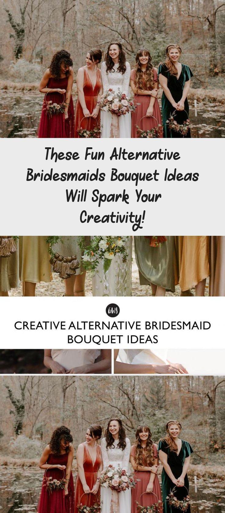 These Fun Alternative Bridesmaids Bouquet Ideas Will Spark Your Creativity! - Green Wedding Shoes #BridesmaidDressesColors #SatinBridesmaidDresses #BridesmaidDressesMint #OrangeBridesmaidDresses #BridesmaidDressesMuslim