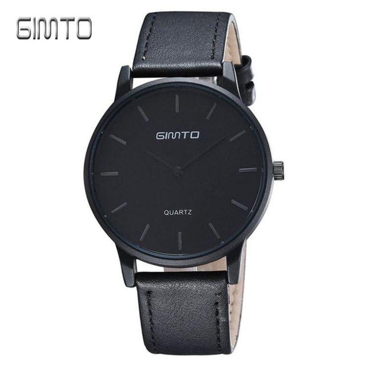 2017 GIMTO Hot Luxury Brand Quartz Watch Men Casual Leather Hodinky Clock Man Relogio Masculino Zegarek Meski Gift #Affiliate