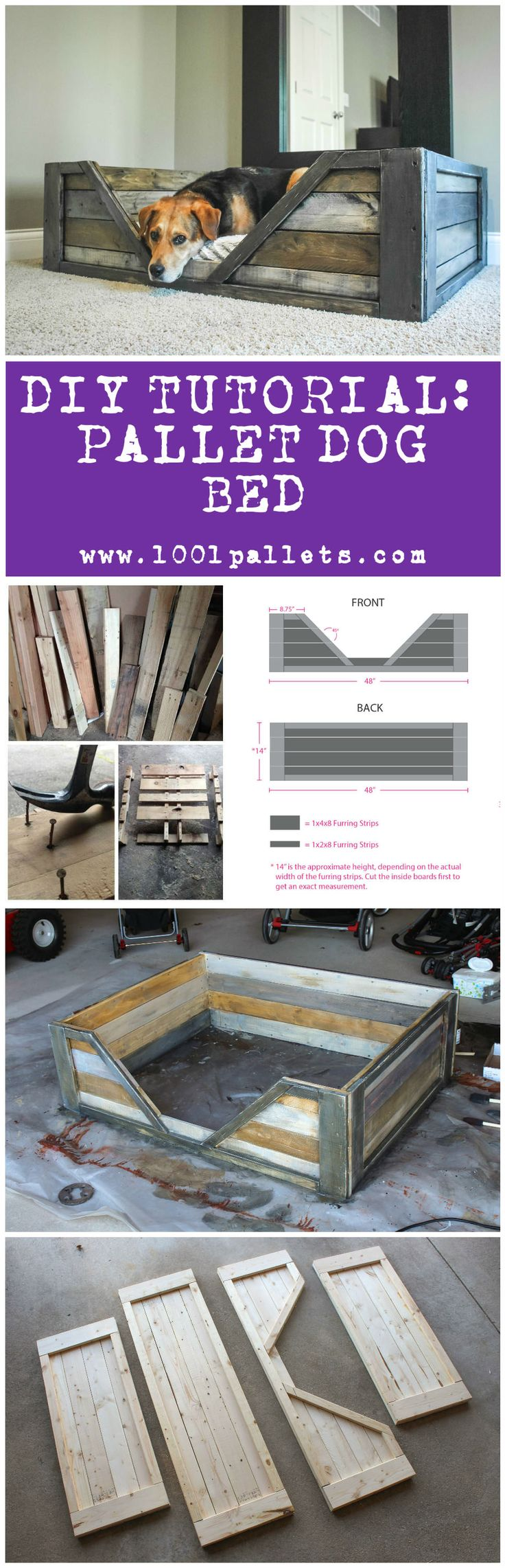 """This tutorial by Dana Laureano from the blog """"Ruggy DIY"""" in collaboration with 1001Pallets will describe how to make this …"""